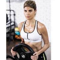 健身文胸背心跑步运动内衣女无钢圈高强度防震聚拢收副乳插片文胸