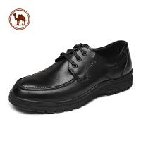骆驼牌男鞋男士皮鞋男真皮2018新款商务正装日常休闲鞋子男内增高
