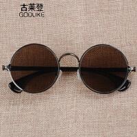 2018新款水晶石眼镜 圆框男士 石头太阳镜复古平光养目镜养眼同款