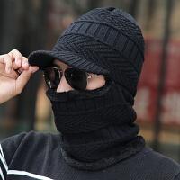 帽子男冬季针织套头帽冬天男士一体包头套帽骑车保暖帽