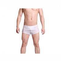 隐约 透气高弹性囊袋bing丝 男士内裤 情趣睡衣裤 平角款式