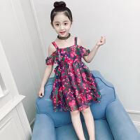 童装女童洋气连衣裙新款韩版小女孩时尚雪纺裙子儿童吊带裙夏