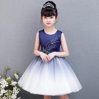儿童装连衣裙女童钢琴演出服夏季宝宝公主礼服裙小女孩蓬蓬纱裙子