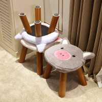 小凳子实木成人客厅换鞋凳布艺儿童茶几凳家用小椅子沙发凳小板凳