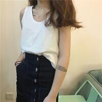 吊带背心女夏外穿韩版学生中长款春季新款简约纯色棉质打底衫上衣