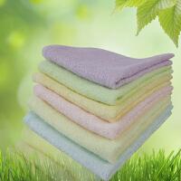 竹纤维毛巾 小方巾 婴儿用 美容巾6条发货