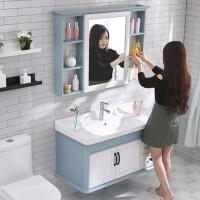 现代简约浴室柜组合小户型洗手洗脸面盆卫生间洗漱台碳纤维挂墙式