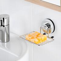 家居生活用品韩版 吸盘香皂盒 吸壁式肥皂盒 真空强力沥水肥皂架 不锈钢 银色