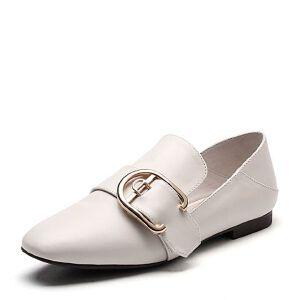 Teenmix/天美意春专柜同款牛皮几何大扣方跟穆勒鞋女单鞋AP031AQ7