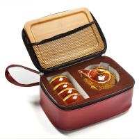 陶瓷功夫茶具整套装家用窑变一壶二四杯户外便携旅行快客泡茶托盘