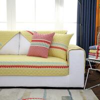 北欧沙发垫子四季通用布艺防滑坐垫简约现代皮沙发套罩全盖靠背巾定制! 意境 米黄