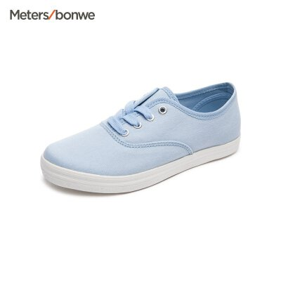 美特斯邦威女鞋新款帆布鞋女休闲多色小白鞋202524商场同款 女