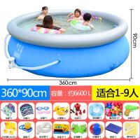?儿童充气游泳池宝宝婴儿家用超大号小孩加厚大型户外水上乐园