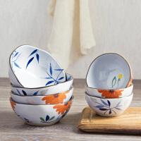 日式和风陶瓷碗家用大号吃饭碗创意餐具大碗面碗沙拉碗汤碗米饭碗