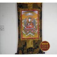 藏传佛教用品 高档双层缝制唐卡 镀金莲花生大师 唐卡(87*47)