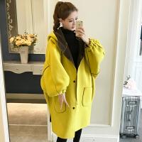 胸围160冬中长款大衣宽松显瘦两面穿连帽加肥加大码胖mm外套300斤