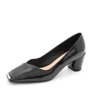 Belle/百丽2018春新品漆皮牛皮女单鞋29801AQ8