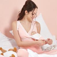 2018新款大码哺乳背心喂奶免穿文胸产后上衣200斤母乳哺乳吊带内衣夏 粉色 9009哺乳款