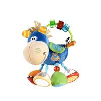 新生儿宝宝安抚玩具婴儿可咬牙胶手抓摇铃陪睡毛绒玩偶 抖音 小马踢踏