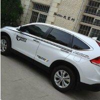 本田新CRV车贴拉花CRV专用汽车车身腰线贴纸SUV改装全车贴花防刮