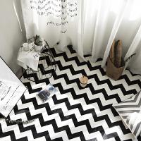 黑白几何北欧简约现代客厅沙发茶几地毯 卧室床边满铺长方形