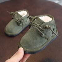 男宝宝雪地靴2018冬季新款男小童休闲低筒短靴子0-1-2岁