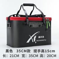 折叠钓鱼桶特价钓箱钓鱼包多功能钓鱼用品装鱼箱一体成型鱼桶