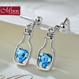 新年礼物Mbox耳钉 气质女款韩国版采用施华洛世奇元素水晶耳钉耳环 幸运瓶
