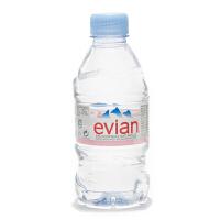 EVIAN依云天然矿泉水330ML*12(法国进口 瓶)