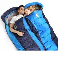 户外睡袋午休冬季睡袋可拼双人厚款信封式野营棉睡袋室内
