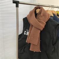 韩国冬季学生超长保暖加厚复古柔软百搭纯色针织毛线情侣围巾围脖