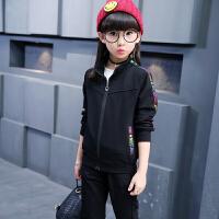 大童秋装女童长袖套装儿童春秋款卫衣小学生运动服女孩