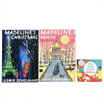 英文原版绘本Ten, Nine, Eight Board Book Madeline's christmas RESC