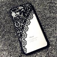 苹果7plus挂绳手机壳iPhone6s手机壳潮女8蕾丝简约软硅胶防摔情侣 6/6s 蕾丝