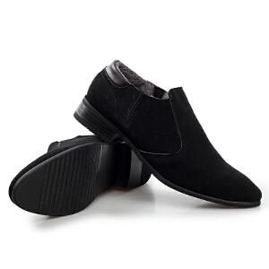 反绒车线花边男士正装鞋(加绒)