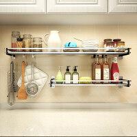 304不锈钢免打孔厨房置物架 壁挂式调料收纳架子用品挂架调味层架ik3