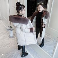 女童棉衣冬装2018新款大童羽绒棉袄洋气12女孩韩版15岁中长款
