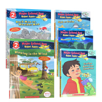 英文原版 Branches学乐大树神奇校车系列5册套装 儿童分级阅读绘本 内容简单易懂 带黑白插图