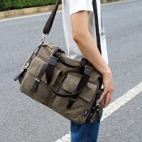 男款休闲包男背包单肩斜挎包学生帆布手提包大容量韩版潮旅行包包