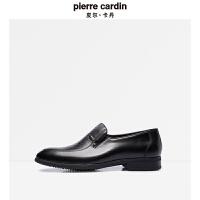 皮尔卡丹商务正装男鞋父亲鞋头层牛皮尖头套脚皮鞋品牌爸爸鞋春夏