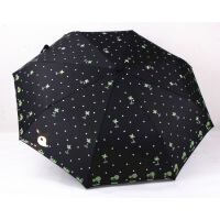 可爱卡通小鹿雨伞全自动晴雨伞创意折叠伞女士印花遮阳伞自开自收