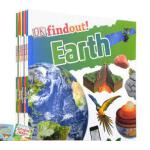 DK Findout! 儿童百科大发现6册 全彩趣味插图 科学 恐龙 动物 人体 太阳系 地球 英国dk出版社 英文原