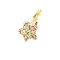 韩版儿童BB夹亮片金色发夹女童女宝宝爱心BB夹发饰夹子边夹刘海夹 金色 金色星星