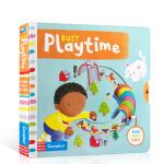 【顺丰速运】英文原版绘本Busy Playtime 忙碌的玩耍时间 儿童亲子互动机关操作书促进手指灵活与发展 认识新单