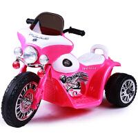 儿童电动车宝宝玩具车可座三轮摩托车太子车童车 高贵红色
