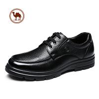 骆驼牌男鞋 秋季新款皮鞋男士休闲商务男皮鞋 真皮低帮系带