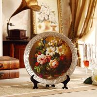 欧式家居饰品陶瓷摆设 创意客厅装饰品摆件 工艺品摆盘酒柜装饰