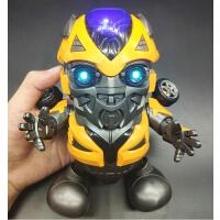 儿童玩具抖音同款钢铁侠会跳舞的蜘蛛侠大黄蜂跳舞机器人发光电动