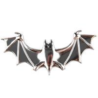 汽车用品外观装饰创意车尾标壁虎车贴3d立体划痕遮挡个性金属贴标 蝙蝠银色XP039E12.8