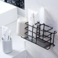 铁艺牙刷置物架卫生间免打孔漱口杯收纳架创意壁挂牙具挂架牙刷架